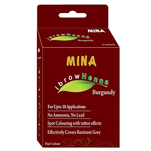 Mina ibrow Henna Tinting Kit & Regular Pack for Coloring Eyebrows- Medium Brown