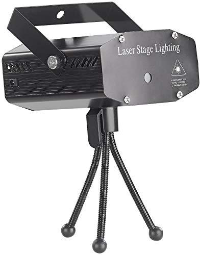 Lunartec Lichtorgeln: Indoor-Laser-Projektor mit 12 Leuchtmustern, Sound-Steuerung, grün/rot (Laser Disco)