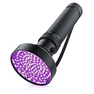 scheda brandson - torcia led uv luce nera da 100 led - rilevatore macchie e traccie ematiche - alta potenza - luce ad ultravioletti - classe di efficienza energetica a plus - rilevatore banconote