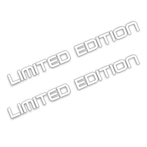 Folien-zentrum 2 x Limited Edition 20 x 1,5 cm blanco Pegatinas Tuning 250 Shocker Auto JDM OEM Dub Decal Sticker Illest Dapper Oldschool pantalla