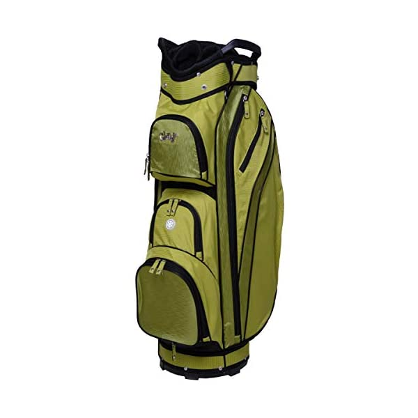 Glove It Ladies' Golf Bag – Lightweight, Nylon Cart Bag with 14 Dividers, Putter Well, Rain Hood & 9 Easy-Access Pockets, Kiwi Check