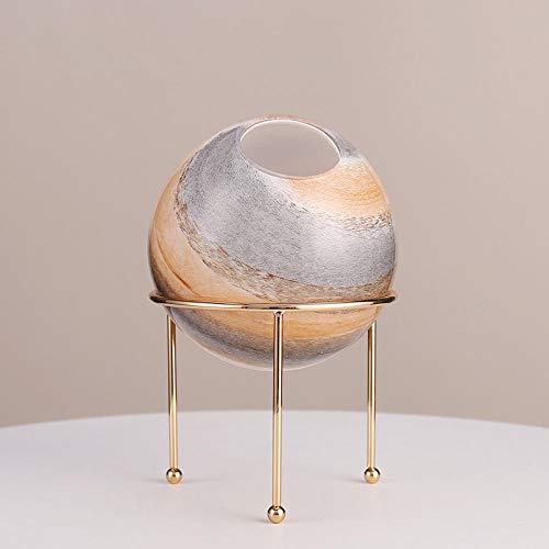 Verzamelobjecten Sculpturen Luxe Glassimulatie Hemellichaam Vaas Creatieve Woonkamer Tv-Kast Schik Bloemen Bloempot