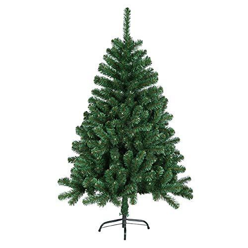 HENGMEI 210cm Artificial Árbol de Navidad Decoración Navideña, Material PVC, Verde con Soporte en Metal