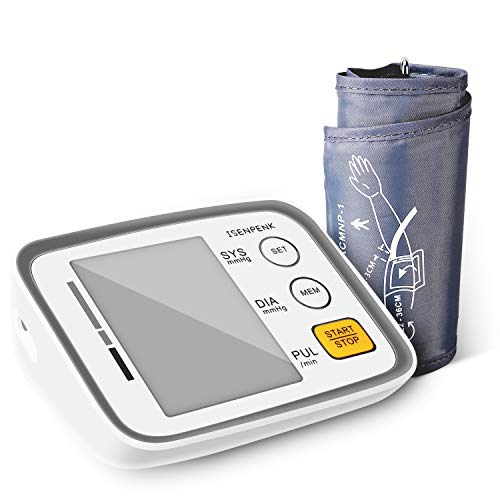 Manfiter Blood Pressure Monitor Upper Arm Automatic Cuff Sphygmomanometer Clinically Accurate Reading Memory (Batteries Not Include)