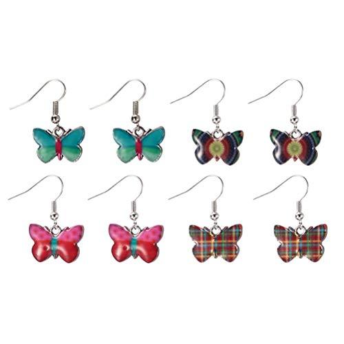 JOE COOL Flutter by Butterfly Tartan Drop Earrings