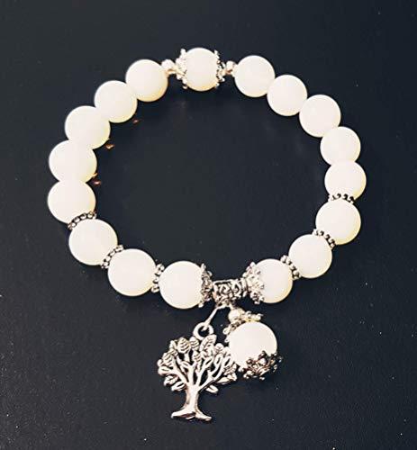 Bracelet Pierre de lune, arbre de vie