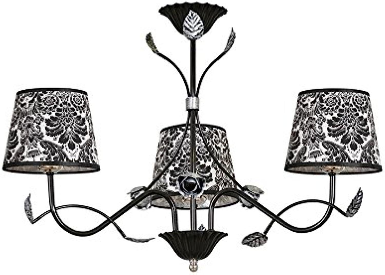 Moderne Lampe MERIDA 3 schwarz