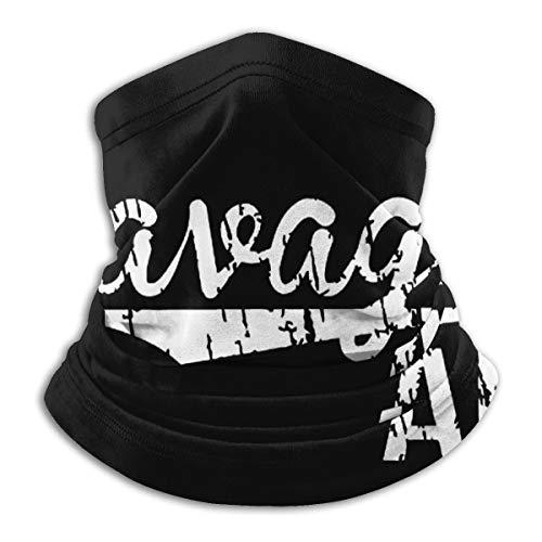 Savage Af Microfiber Neck Warmer Scarf Gaiter Headwear Face Mask Black