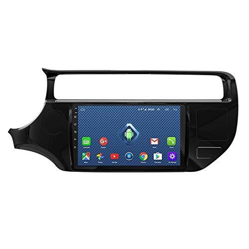 JALAL Android 2 Din Auto-Stereo-GPS-Navigation mit Unterstützung für Rückfahrkamera WiFi/Bluetooth/Spiegelverbindung/Lenkradsteuerung/USB/FM/DAB +/OBD2 für KIA Rio K3 2015-2016