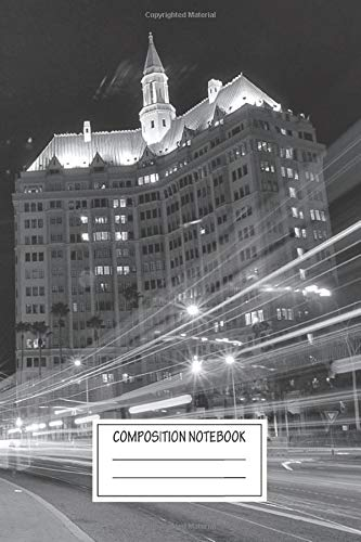Composition Notebook: Landscapes Ocean Blvd Traffic Villa Riviera The City Wide Ruled Note Book, Diary, Planner, Journal for Writing