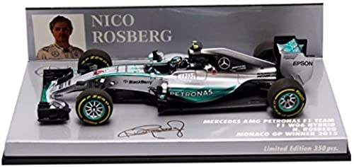Minichamps Ma ab 1  43 015 rcedes AMG Petronas W06  Rosberg Winner Monaco GP Auto (Silber)