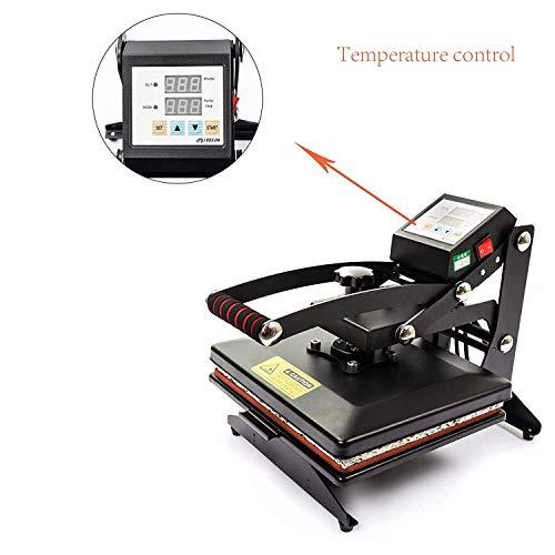 D4P Display4top Transferpresse Tassenpresse Textilpresse T-Shirt Transferpresse Sublimationsmaschine, Einsatz für Industrie, Gewerbe und Haushalt (25cm x 30cm) - 5