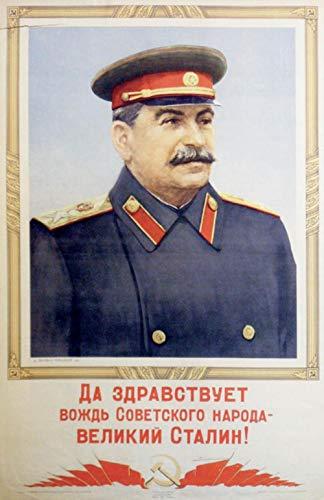 CCCP soviético URSS Stalin Gloria soviética Etiqueta de la pared clásica Pinturas en lienzo Cartel decorativo de la vendimia Cartel de la decoración de la barra del hogar, negro, cartel kraft A3