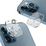 AUNEOS iPhone 12 Pro 用 カメラフィルム 3眼レンズ保護 フラッシュ穴に黒ゴム 露出オーバー防止 日本旭硝子製 硬度9H キズ防止 耐衝撃 高透明度 防滴 防塵 極薄 タピオカレンズ カメラ全体保護 (2枚セット)