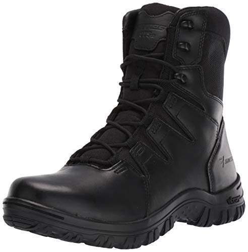 Bates Men's 8' Maneuver Hot Weather Side Zip Fire and Safety Boot, Black, 11 Extra Wide US