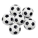 fedsjuihyg Reemplazo De Mini Balones De Fútbol Bola De Mesa Juego De Fútbol 6pcs Jugar con Los Niños