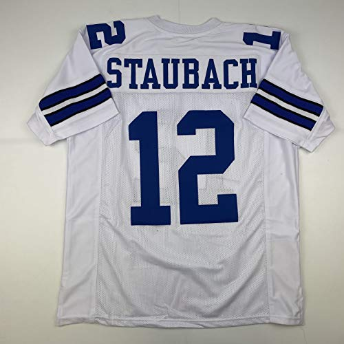 Unsigned Roger Staubach Dallas White Custom Stitched Football Jersey Size Men's XL New No Brands/Logos