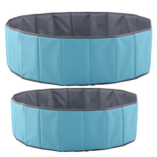 VGEBY - Piscina de Bolas de Juego con Bolsa de Almacenamiento, Piscina Plegable y portátil/Piscina de Bolas/Piscina de baño para bebé o Cachorro Azul Cielo(1m/3.3ft)