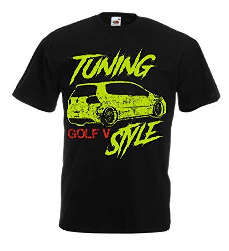 vestipassioni Camiseta Golf Tuning Coche Sport Passion 5V Negro 2 años