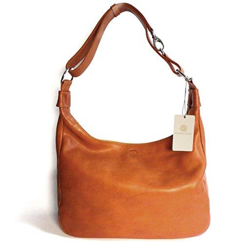 Sonnenleder - hochwertige Handtasche VALENCIA Farbe: Natur, Innenfutter: Ecru *Echtes Leder* …
