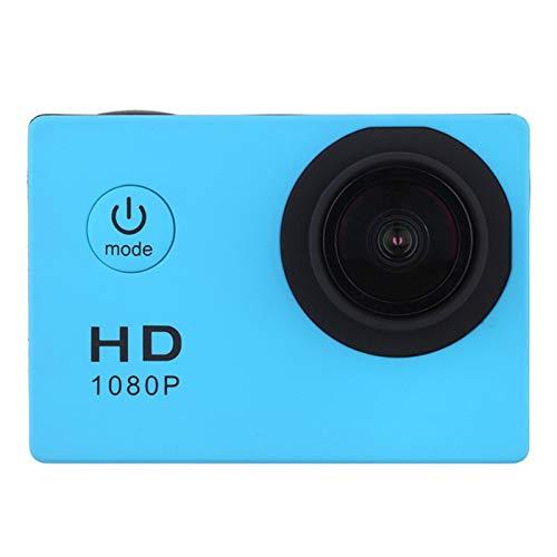 WFDG Sport-Action-Kamera im Freien 30M wasserdicht 720P HD Mini Unterwasserkameras Video Recording Helm Extreme Profi Cam F11.11C (Color : Blue)