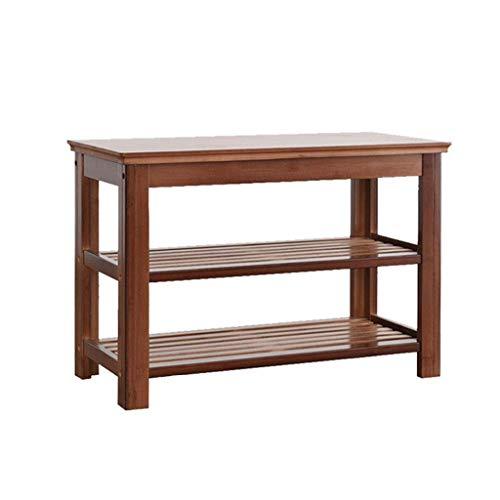 MFWallMirror Schoenenkast, 100 cm breed, opbergbox, staand, verticaal, natuurlijk bamboehout, ruimtebesparend