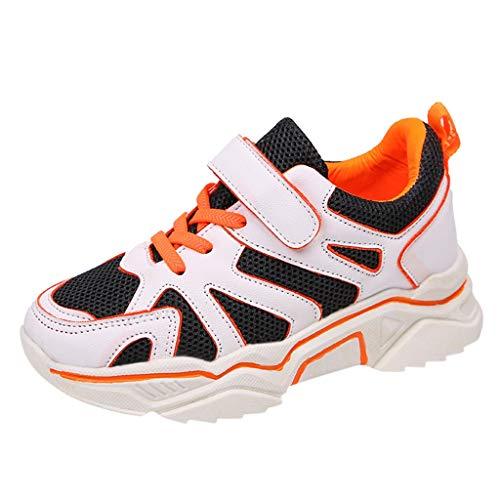 i-uend Unisex Kleinkind Baby Patchwork Gittergewebe Sport Turnschuhe Sneakers