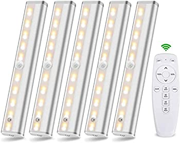 5-Pack LAJOSO Wireless Remote Control Under Cabinet LED Lighting