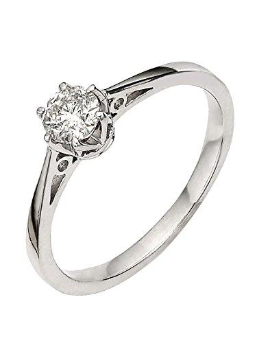 G&S Diamonds oro 375 oro blanco Round Brilliant blanco raro +/wesselton superior g diamante