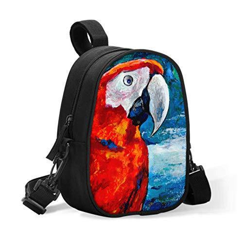 Kühltaschen Muttermilch Knallroter Papagei auf dem Meereshimmel Ein Baby-Lunch-Beutel Baby-Flaschen-Isolierbeutel lässt sich leicht am Kinderwagen für Reisen befestigen Baby-Flaschenwärmer oder cool