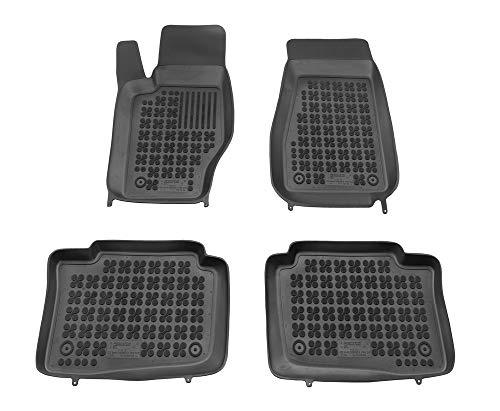 Alfombrillas de Goma Compatible con Jeep Grand Cherokee WK (2005-2010) + Limpiador de Plasticos (Regalo) | Accesorios Coche Alfombrilla Suelo