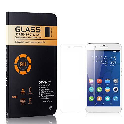 GIMTON Displayschutzfolie für Huawei Mate 9 Lite, 9H Härte, Blasenfrei, Anti Öl, Ultra Dünn Kratzfest Schutzfolie aus Gehärtetem Glas für Huawei Mate 9 Lite, 4 Stück