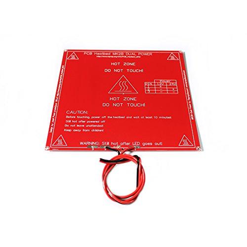 Anycubic MK2B Dual Power PCB Heatbed Piastra Calda con LED e Della Resistenza del Cavo per Stampante 3D Prusa Mendel Aggiornamento di MK2A