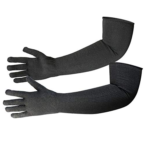 Protective Kevlar Gloves with Sleeves Level 5 Protection Heat & Cut Resistant Sleeves Gloves Safety Sleeves for Welding, Kitchen, Gardening