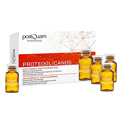 PostQuam - Ampollas Faciales | Ampollas Proteoglicanos, con Vitamina C y Ácido Hialurónico- Antiedad y Reafirmante Facial - 10 ampollas