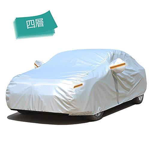 GUNHYI 自動車ボディカバー 4層構造, 裏起毛タイプ 防水防雪防塵防輻射紫外線屋 外のカーカバー ,フィット...