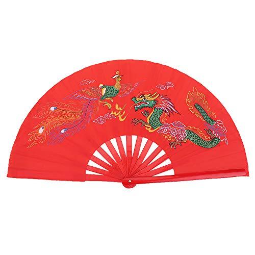 Huairdum Abanico de Taiji, Rojo Colorfast Deluxe Elegante Artes Marciales de Taiji...