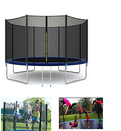 HYGRAD BUILT TO SURVIVE Outdoor Garden Trampoline With Safety Net Enclosure & Step Ladder 3 Sizes (6 Ft)