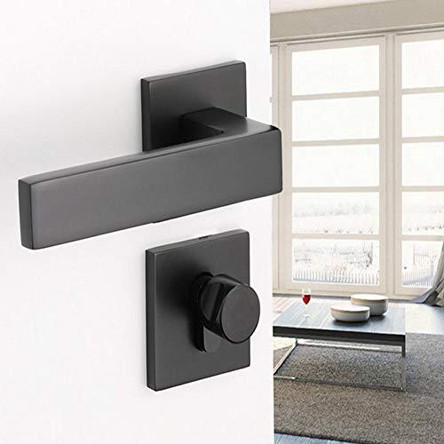 Stylish Door Lock,Adjustable Black Lock Cylinder Handle Set Keyed‑Locking Door Knob Accessory