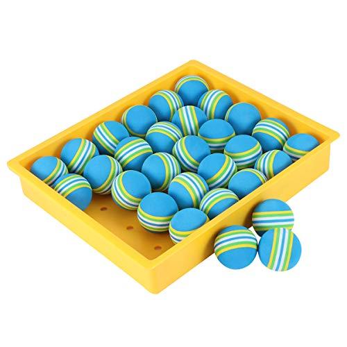 CLISPEED 30 Stücke Golfbälle PU Quetschball Lakebälle Teichbälle Golf Trainingsbälle Übungsbälle Farbige Spielbälle Squeeze Ball für Indoor Outdoor Golf Training Übung Bälle 42mm