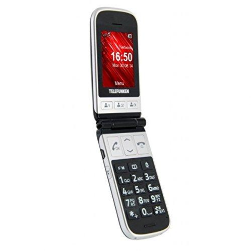 Telefunken TM 230 Cosi - Teléfono móvil libre, color gris y negro