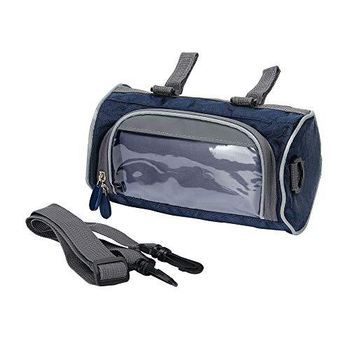 Bolsa para Manillar de Bicicleta, Pantalla Táctil para Bicicleta de Montaña Bolsa Impermeable para Manillar Frontal, Accesorios de Ciclismo Bolsa de para Marco Delantero de Bicicleta (Navy Blue)