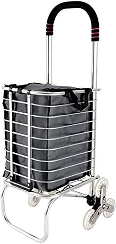 Eortzpc Carretilla de Mano Home Shopping Trolley, Oxford Paño Compras a Prueba de Agua Fácil de Guardar Carrito de Escalada portátil con plegamiento,Carro de Mano de Uso múltiple