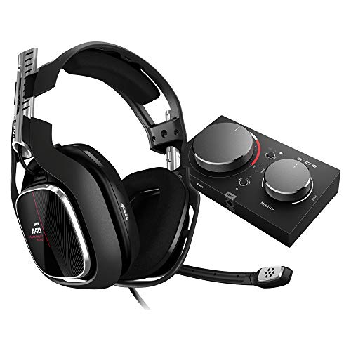 ASTRO Gaming A40 TR Casque Gamer Filaire + MixAmp Pro TR, Génération 4, 7.1 Son Dolby Surround, ASTRO Audio V2, Jack Audio 3,5 mm, Micro Interchangeable, Speaker Tags, PC/Mac/Xbox One - Noir/Rouge