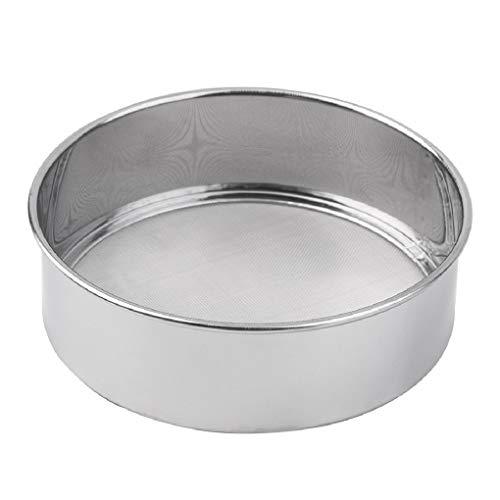 Flushzing Edelstahl Mehlsieb Backen Werkzeug Küche Superfein Round-Mehl-Zuckerpulver Sieve Seiher