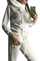 Gocgt Womens 2 PCS Tracksuits Joggers Active Sweatshirt Tops Pants Sets