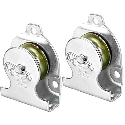 2 Piezas Simple de Polea Polea de Elevación Galvanizado Polea de Correa para Rodamientos de Bolas de Alambre Accesorios de Gimnasia(Carga 190kg)