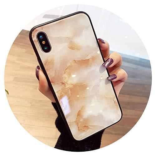 Funda de lujo de mármol para iPhone X XS Max XR 8 7 de vidrio templado para iPhone 7 8 Plus 6 6s Fundas, mármol, para iPhone XS