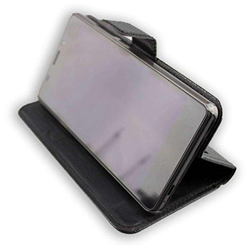 caseroxx Handy Hülle Tasche kompatibel mit Vernee Thor E Bookstyle-Hülle Wallet Hülle in schwarz