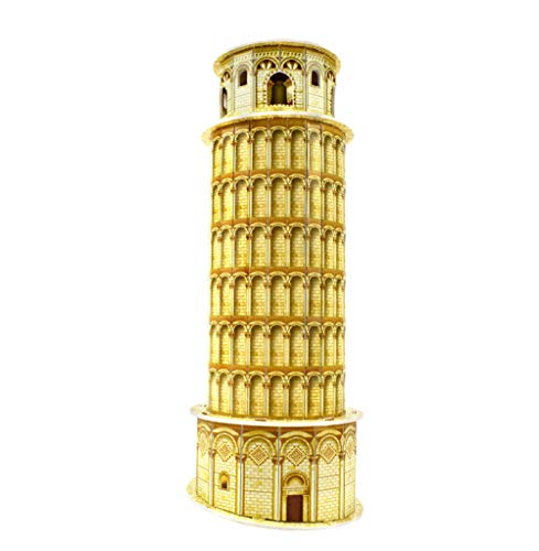 rrff Cardboard 3D Building Puzzle Model Toys For Children Leaning Tower Of Pisa Handmade Model Building Kit Kids Toys Home Decoration
